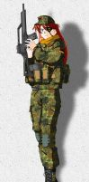 Asuka Langley in Bundeswehr by VisionAnime