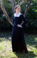 16th century black wool kirtle and shirt by CenturiesSewing