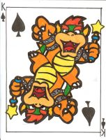 Bowser face card by littlemissysg