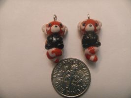 Red Panda Earring Charms by Pandarat