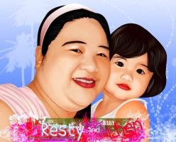 mam resty and baby lhen by mHonArt