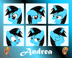 MLP OC Expressions : Andrea by outlaw4rc