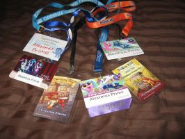 My convention badges (2013-2015) by AleximusPrime