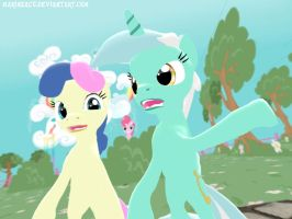 MLP: Lyra and Bon-Bon: Disgust by MarineACU