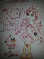 Angry Girls/Angry Birds: Red Bird Girl by MeganLovesAngryBirds