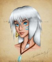 Kida Portrait Color by MoonchildinTheSky