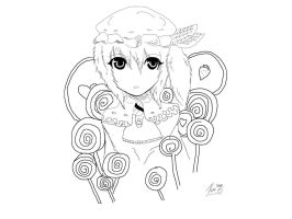 Candy girl lineart by Nomeruu