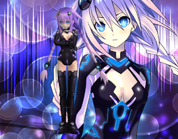 Hyperdimension Neptunia Mk2 - Purple Heart XPS DL by CreamFireballXNALara