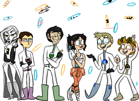 Portal 2 human designs by Fly-Andi