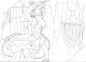 The Blacksmith - Commission WIP by RubyGirl14