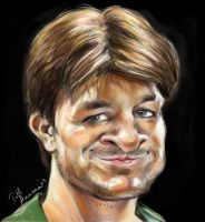 Nathan Fillion Caricature by Mandala87