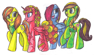 Four Little Friends by ScarlettWarrior
