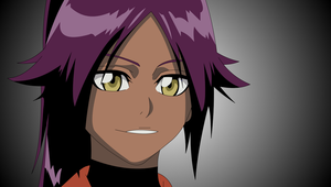 Yoruichi smiles happy :3 by Mifang