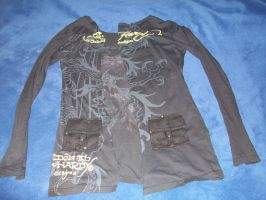 front of ed hardy jacket im working on by 6death6stars6