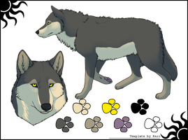 Wolf Adoptable .:Closed:. by Love-Adopts