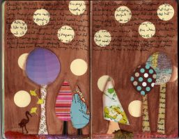 Art Journal - Trees by QueenofCupcakes