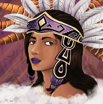 Aztec Goddess by SurrealMime