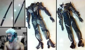 Metal Gear Rising Raiden Progress 190113 by keruuu