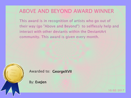 Above And Beyond Award Feb 2017 by EveJen