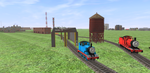 Thomas and James in Trainz A New Era by TDThomasFan725