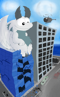 Dragon in the city by Toxicoow