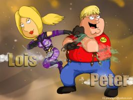 SF x Tekken : Lois and Peter by pandadidge