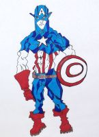 Captain America Markers by TheJokesOnYou