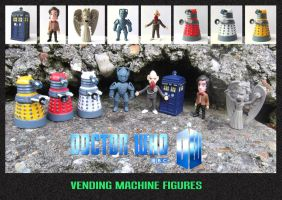 Doctor Who - Vending Machine Figures by mikedaws