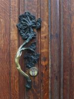 Floral motive door handle by Smaragd01
