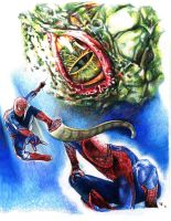 Spidey vs The Lizard by RobD4E