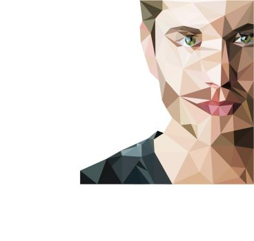 Jensen-Ackles-low-poly by Shredder9900