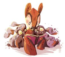 Storytime with the Dust Bunnies by Zakeno