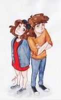 Mabel and Dipper by jim-vikson