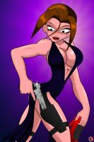 LARA DRESSED TO KILL by lordcoyote