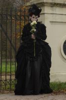 Stock - Gothic lady with roses .. romantic by S-T-A-R-gazer