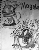 Magolor and his soul in some random style by Rotommowtom