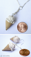 Miniature Ice Cream Cone Jewelry by Emoeba