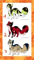 Themed cat adoptables OPEN by CaledonCat