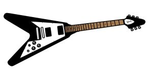 Gibson Flying V colored by IsunaKun