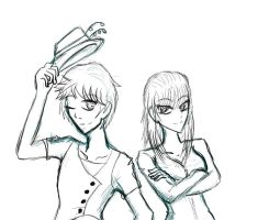another sketchy XD for luis by Usagi-Moni