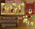 August Tunes Reference sheet  by xXNovaNepsXx