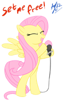 Fluttershy - best singer by PPDraw