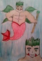 Merman hybrid adoption PT30  (close) by wolfdragonblood
