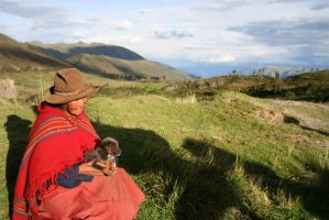cusco woman with puppy by rdorman