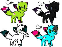 Adoptables (5 points each) by sugar-ish-a-kitty