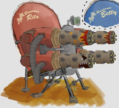 Papa Sentry Gun by dejaesbe
