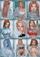 Witchblade Sketch Cards Set 7 by wardogs101