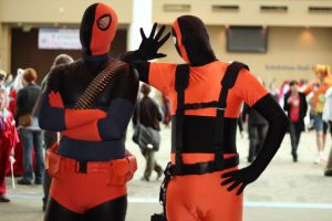 Slade and Deadpool by Aether-Shadow