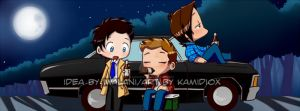 Paid Commission:  Under the moonlight by KamiDiox