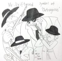 Mr.Driftwood,Symbol of 'Outrageous' by komi114
